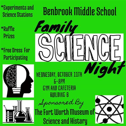 Come out to Middle School Science Night