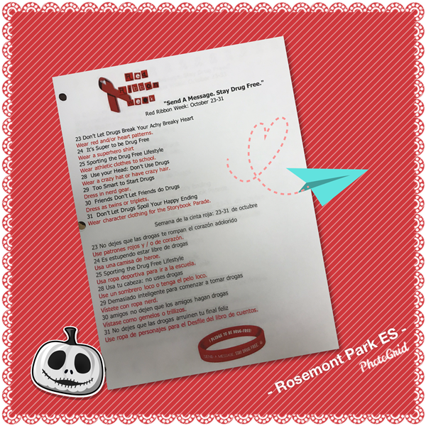 Red Ribbon Week: October 23-31