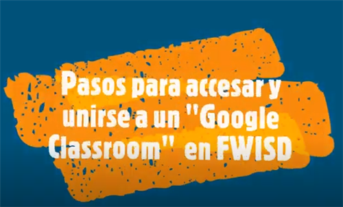 Spanish Video on How to Access Google Classroom