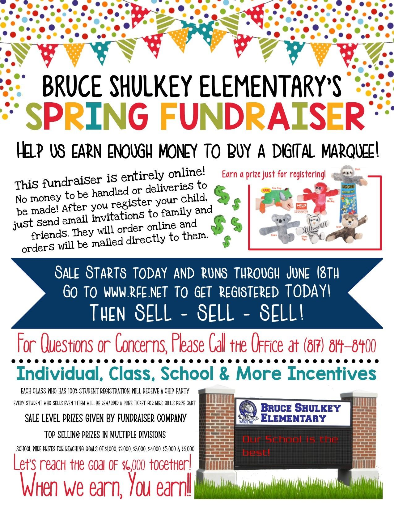Help us Raise money for our school online!