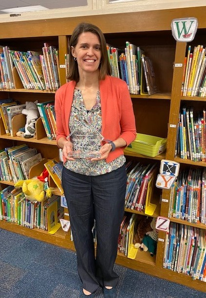 Congratulations Ms. Wagoner, Teacher of the Year!