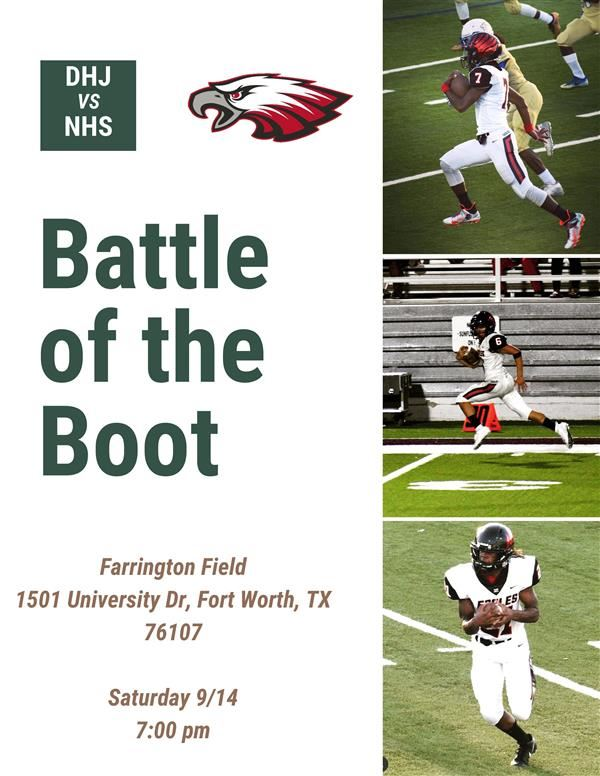 Join us for the Battle of the Boot!