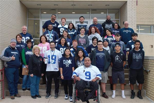 Diamond Hill-Jarvis HS supports the Dallas Cowboys!
