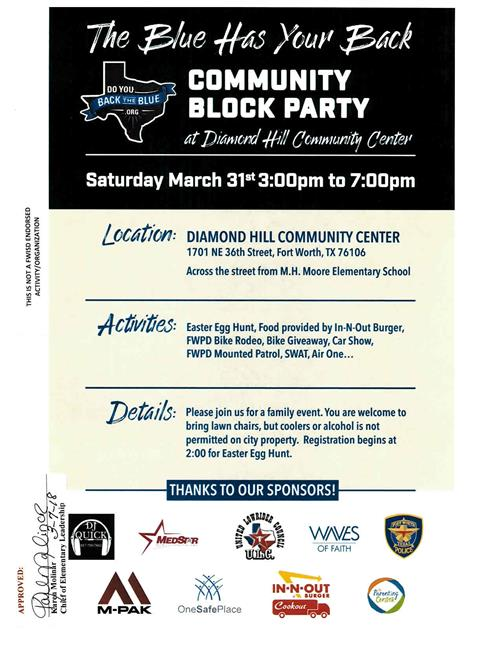 Join us for The Blue Has Your Back Community Block Party!