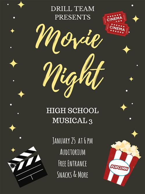 DHJ Drill Team Invites You to Movie Night