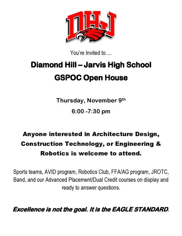 Diamond Hill–Jarvis High School GSPOC Open House