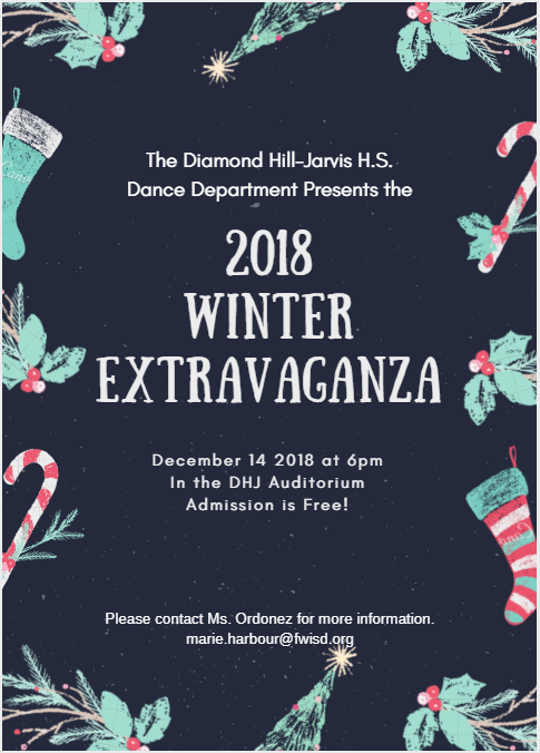 Diamond Hill-Jarvis High School Annual Winter Extravaganza Dance Concert