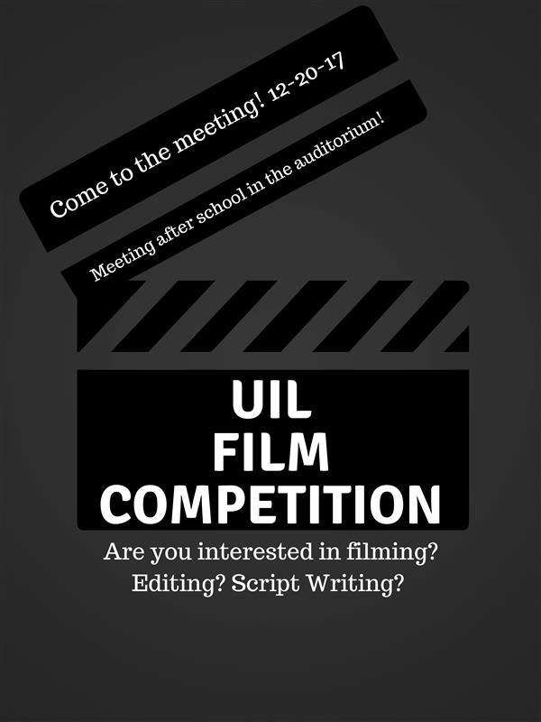 UIL Film Competition Meeting