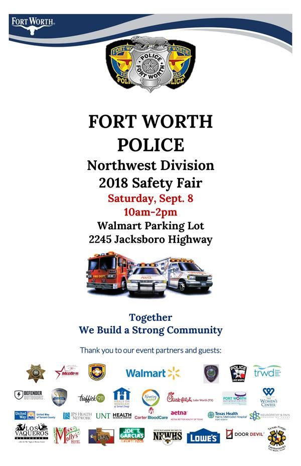 Fort Worth Police Department Northwest Division 2018 Safety Fair