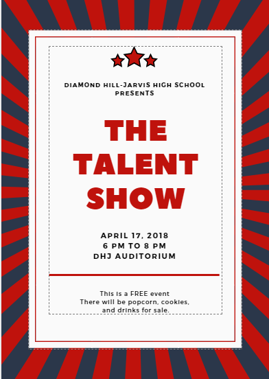 Join us for our annual DHJ Talent Show!