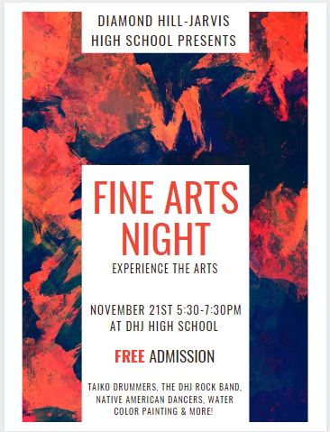 Join us for our Diamond Hill-Jarvis High School Fine Arts Night