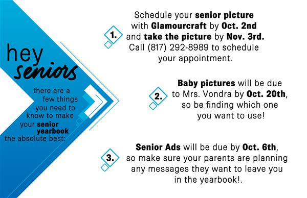 Senior Yearbook info