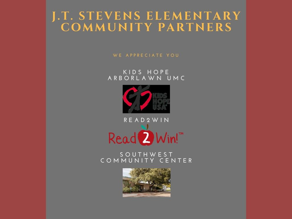 J.T. STEVENS COMMUNITY PARTNERS  - Kids Hope Arborlawn UMC - Read2Win - Southwest Community Center