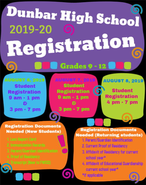 19/20 Registration Dates