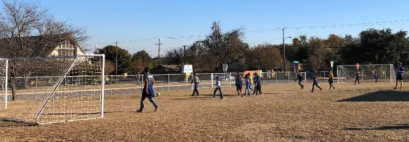 Soccer Club  for our fourth and fifth graders! Our students are really chasing after their GOALS! 🥅 ⚽️