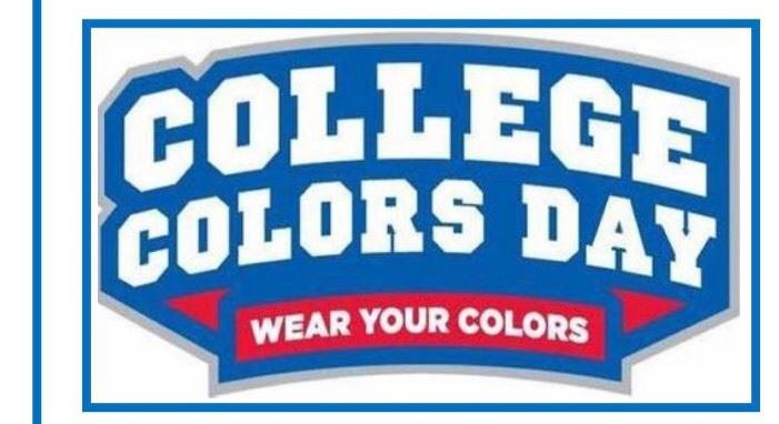 Friday is College Colors Day!