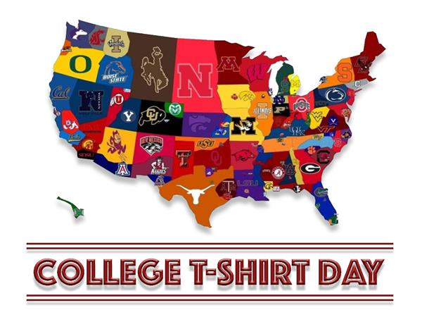 College T-Shirt Day  January 11, 2019
