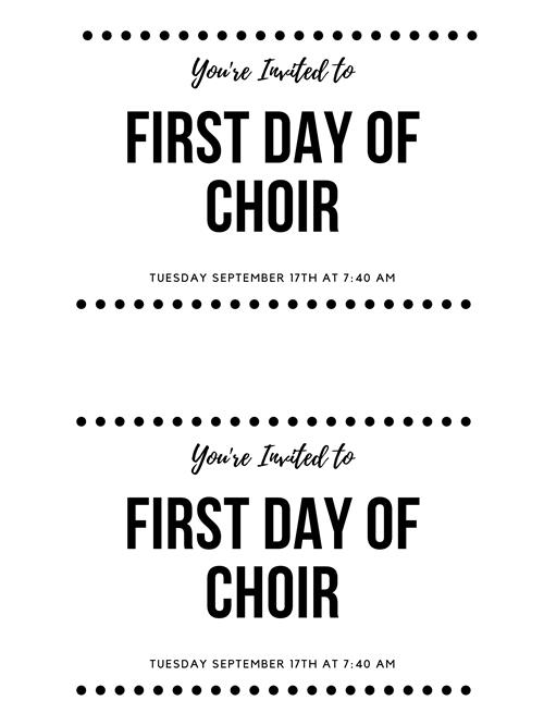 Reminder for Honor Choir