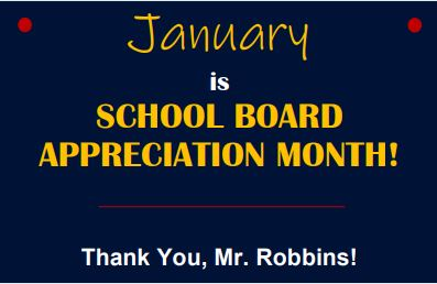 January is School Board Month