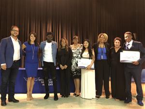 scholarship recipients and presenters