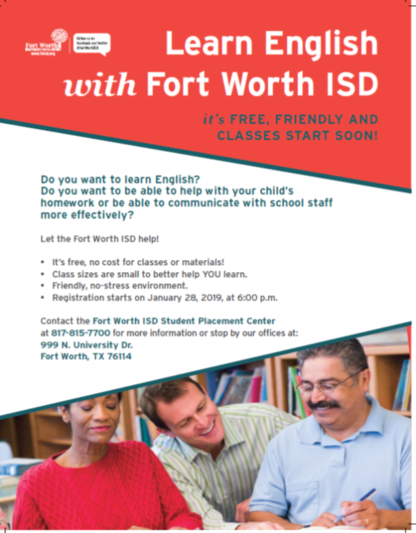 Learn English with FWISD!
