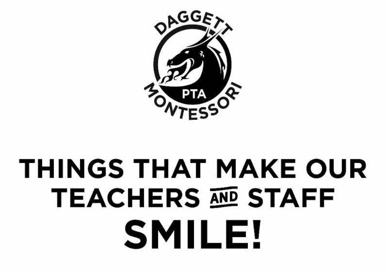 Teacher & Staff Appreciation List
