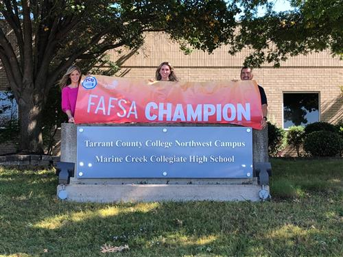 FAFSA Banner with Leadership
