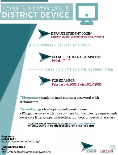 Student Password Reset Instructions