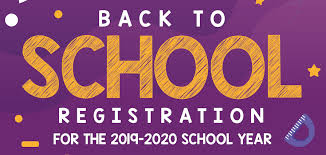 2019-2020 Registration Schedule and Information