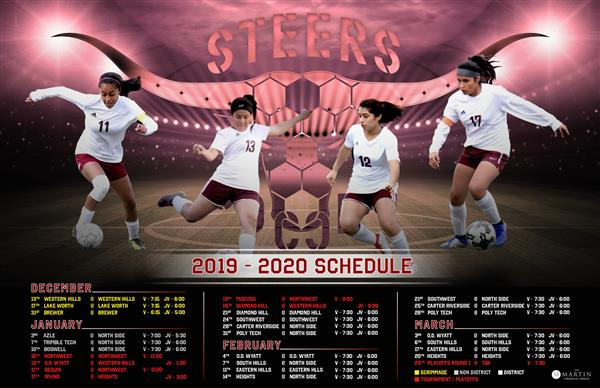 Girls Soccer Schedule 2020