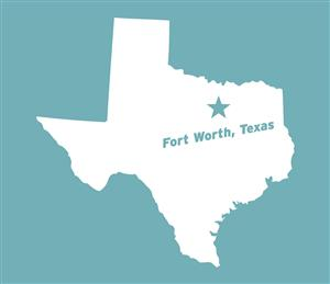 Fort Worth, TX map