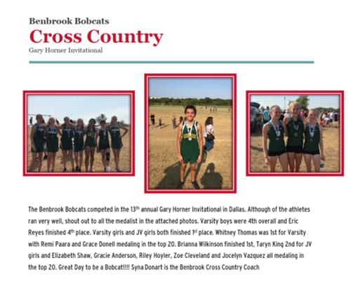 Benbrook Cross Country