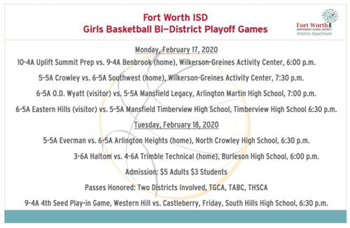 Girls Basketball Bi-District Playoffs