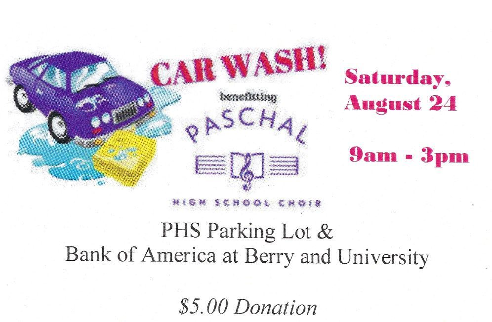 Carwash benefiting Paschal Choir