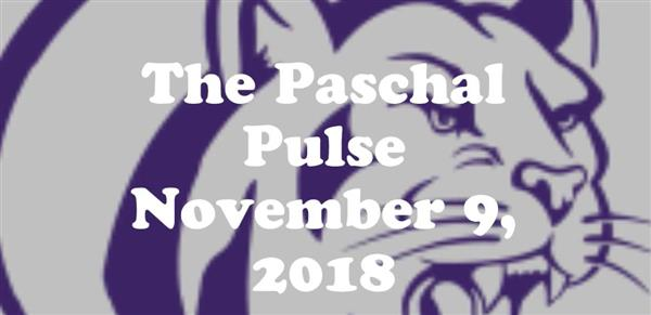 Paschal Announcements November 9th