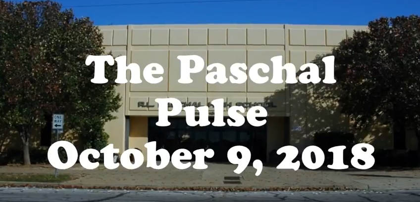 Paschal Announcements October 9th 2018
