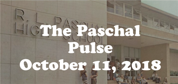 Paschal Announcements October 11th 2018
