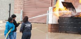 Fort Worth ISD Students Receive Instruction in Firefighting Skills