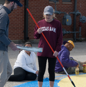Law School Students Lend A Hand In Sunrise-McMillan Elementary Campus Beautification Project