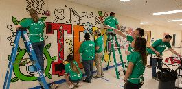 Nearly 200 Fidelity Volunteers Make Over Dunbar HS