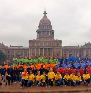 Benbrook Elementary fourth graders travel to Austin on an Education in Action Discover Texas Field Trip