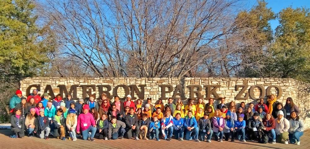 Burton Hill Elementary fifth graders travel to Cameron Park Zoo, Waco Mammoth National Monument, and Inner Space Cavern on an Education in Action Discover Texas Field Trip