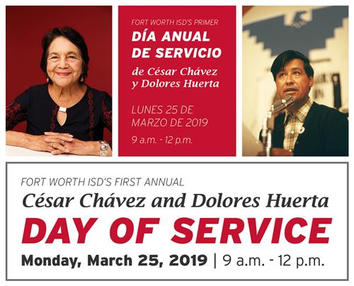 cesar chavez and dolores huerta day of service