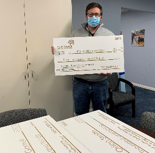 Trimble Tech Teacher Creates Larger-Than-Life Award Checks For Teaching Chair Winners