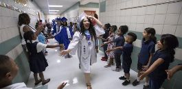 EHHS Seniors Celebrated --and Inspire Younger Students--During Annual Senior Walk