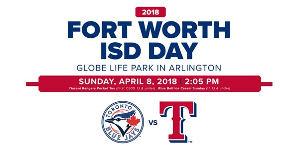 Texas Rangers Fort Worth ISD Game Day