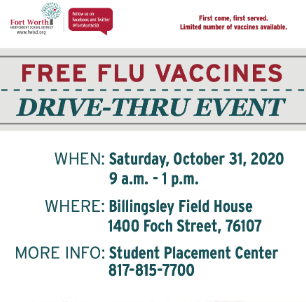 Drive-Through Flu Clinic Set For October 31