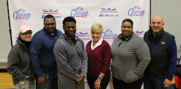 Hall of Famer LaDainian Tomlinson Rewards Student Leaders, Families in the Eastern Hills HS Pyramid with Thanksgiving Meals
