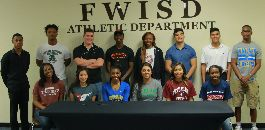 FWISD Student-Athletes Sign With Colleges and Universities