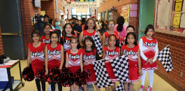 Diamond Hill ES Student Grabs Checkered Flag
